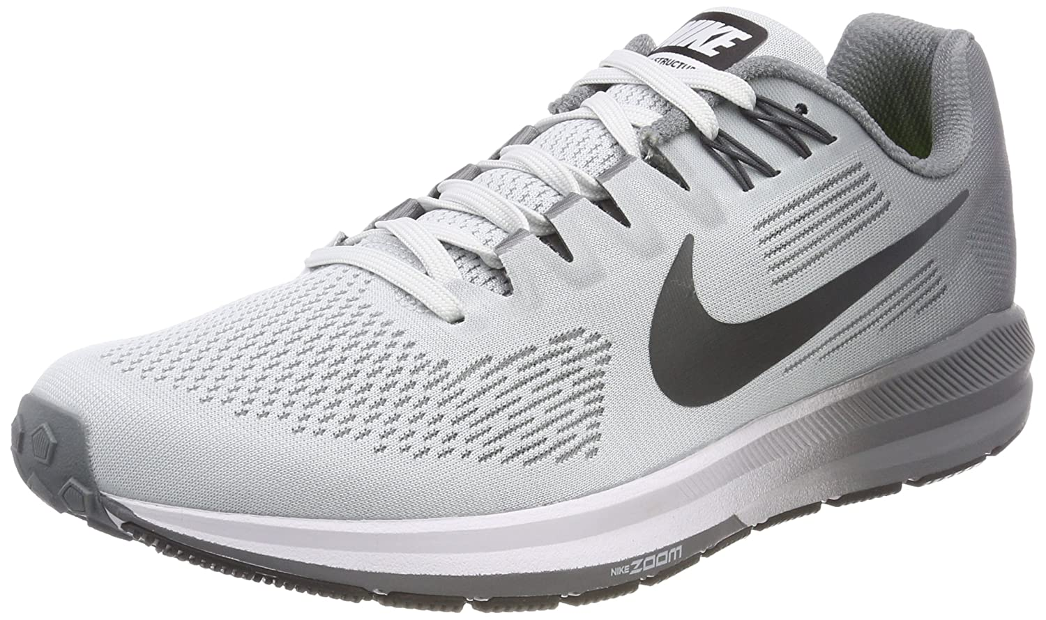 307c9dfe49b7a5 Nike Air Zoom Structure 21 Mens Fashion-Sneakers 904695-005 7.5 - Pure  Platinum Anthracite-Cool Grey  Buy Online at Low Prices in India - Amazon.in