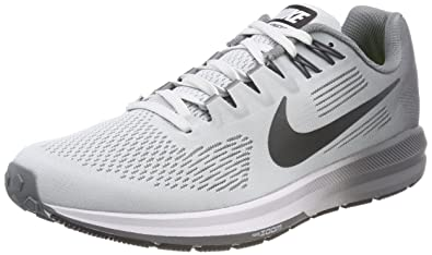 a4584d7a4418 Nike Men s s Air Zoom Structure 21 Running Shoes Gold (Pure  Platinum Anthracite Cool