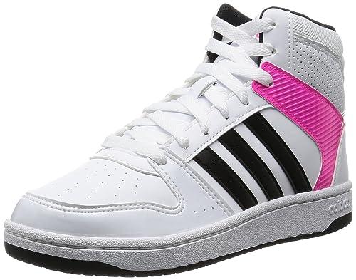 size 40 cac11 c466e adidas Vs Hoopster Mid W Scarpe da Basket Donna, Multicolore (FtwwhtCblack