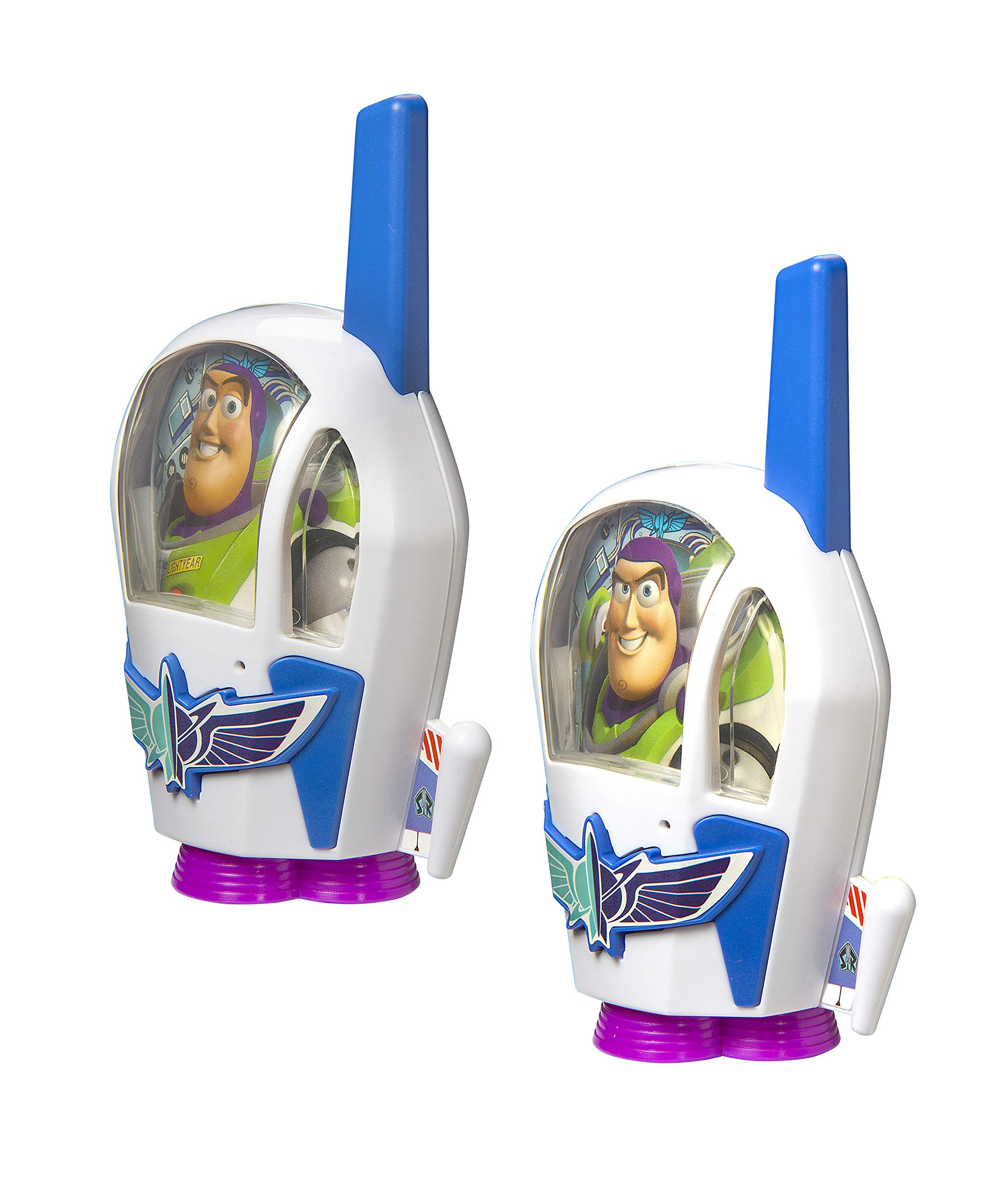 Toy Story 4 Buzz Lightyear Kids Walkie Talkies for Kids Static Free Extended Range Kid Friendly Easy to Use 2 Way Radio Toy Handheld Walkie Talkies Team Work Play Indoors or Outdoors by eKids (Image #2)