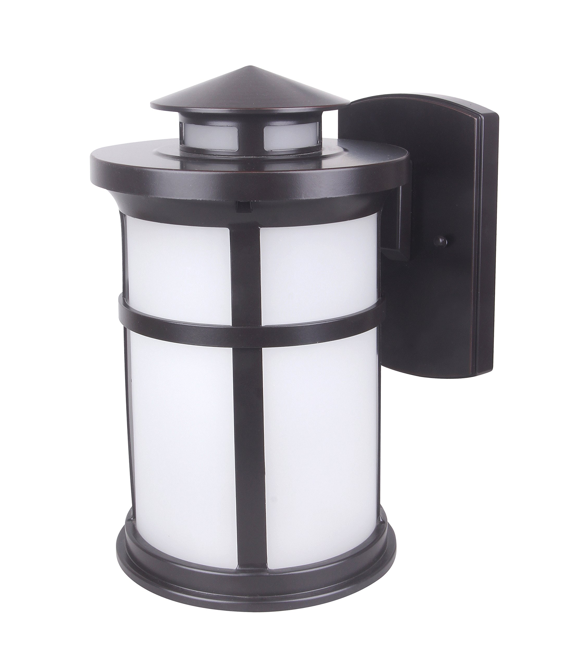 CORAMDEO Outdoor LED Wall Lantern, Wall Sconce as Porch Light Fixture, 11.5W, 1050 Lumen, Water-Proof, Aluminum Housing Plus Glass, ETL and Energy Star Rated
