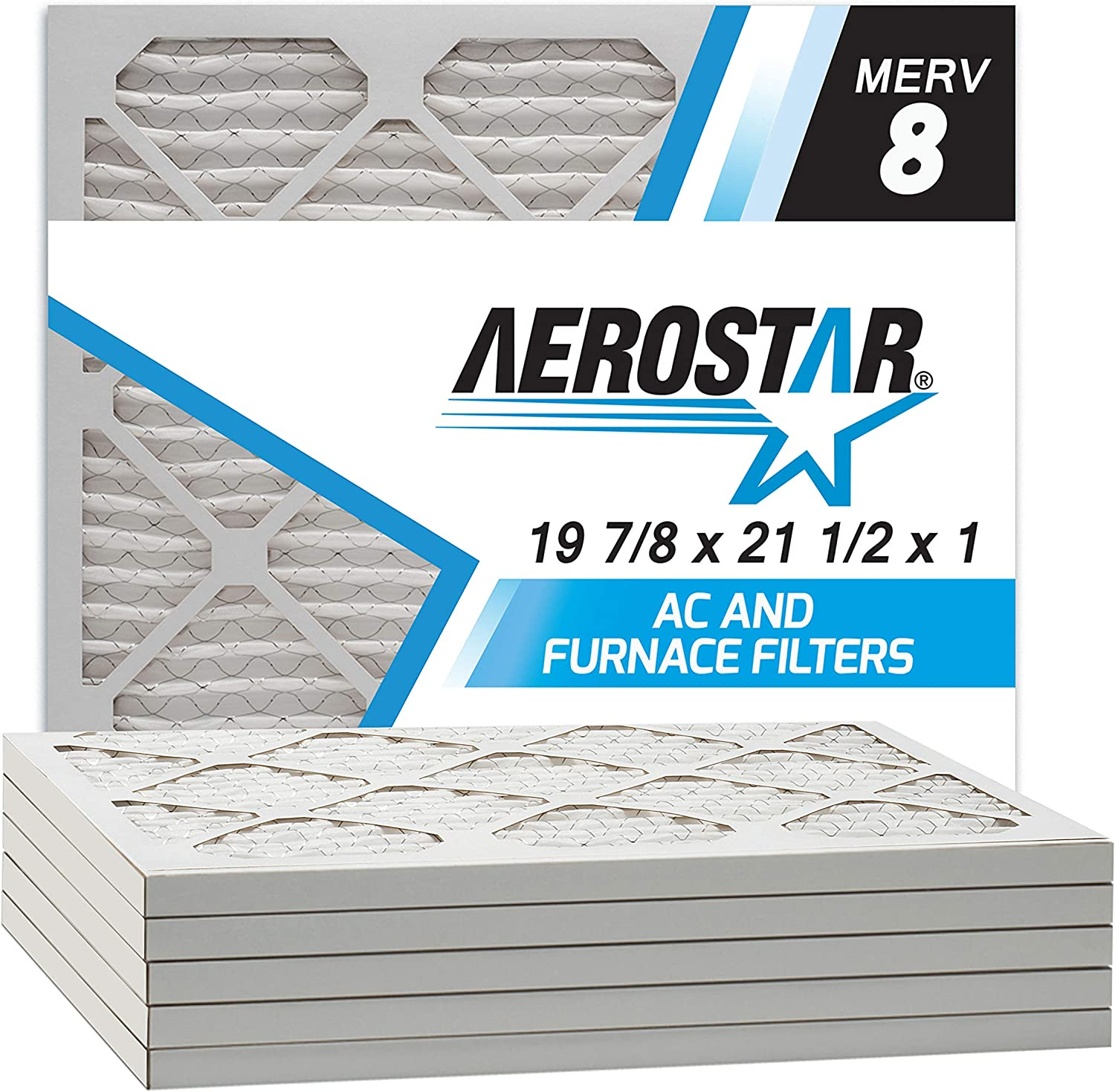 Aerostar 19 7/8x21 1/2x1 MERV 8 Honeywell Replacement Pleated Air Filter