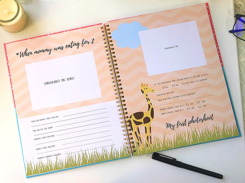 baby memory book for boy or girl modern unisex baby journal