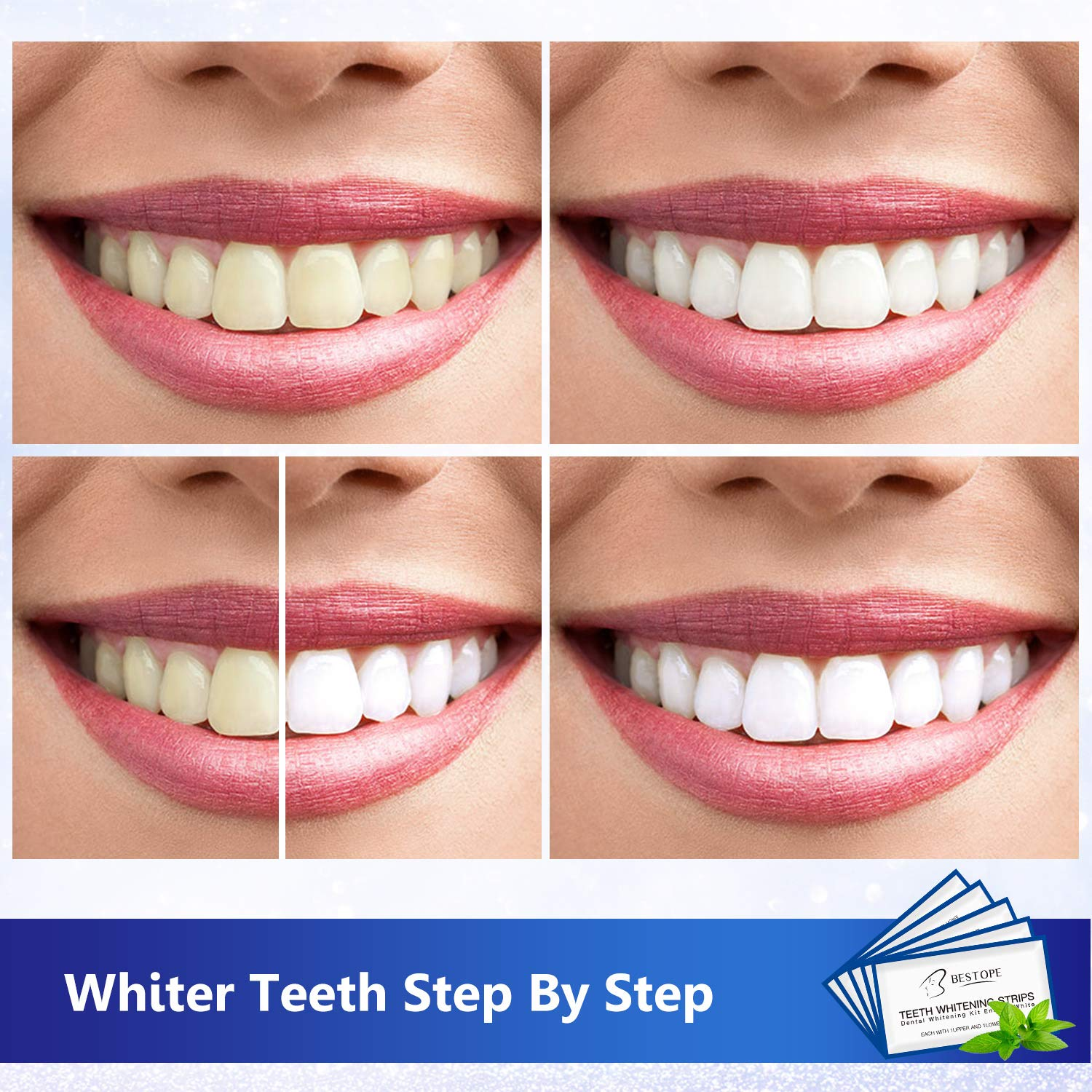 Teeth Whitening Strips 40pcs Bestope Tooth Whitener Kit With Professional Dental Treatment Tooth Enamel Safe Non