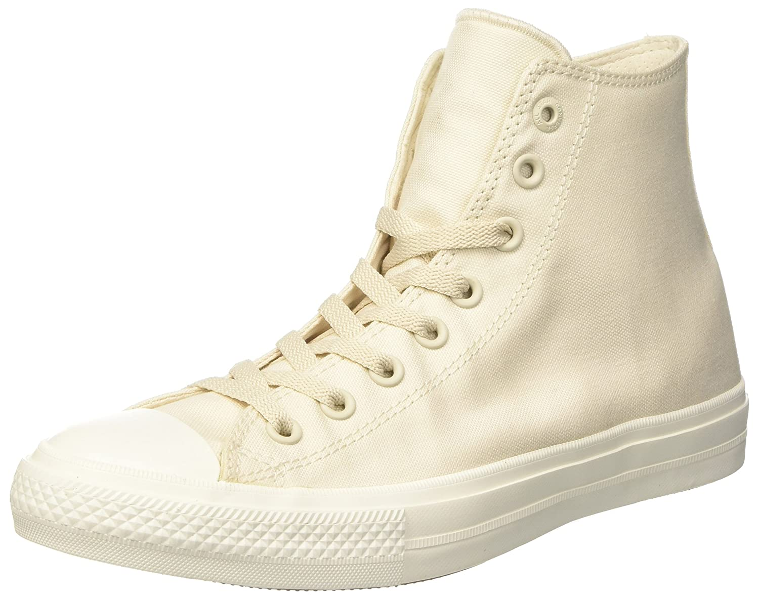 Converse Chuck Taylor All Star II High B010S7W2O6 S|Parchment/Navy/White