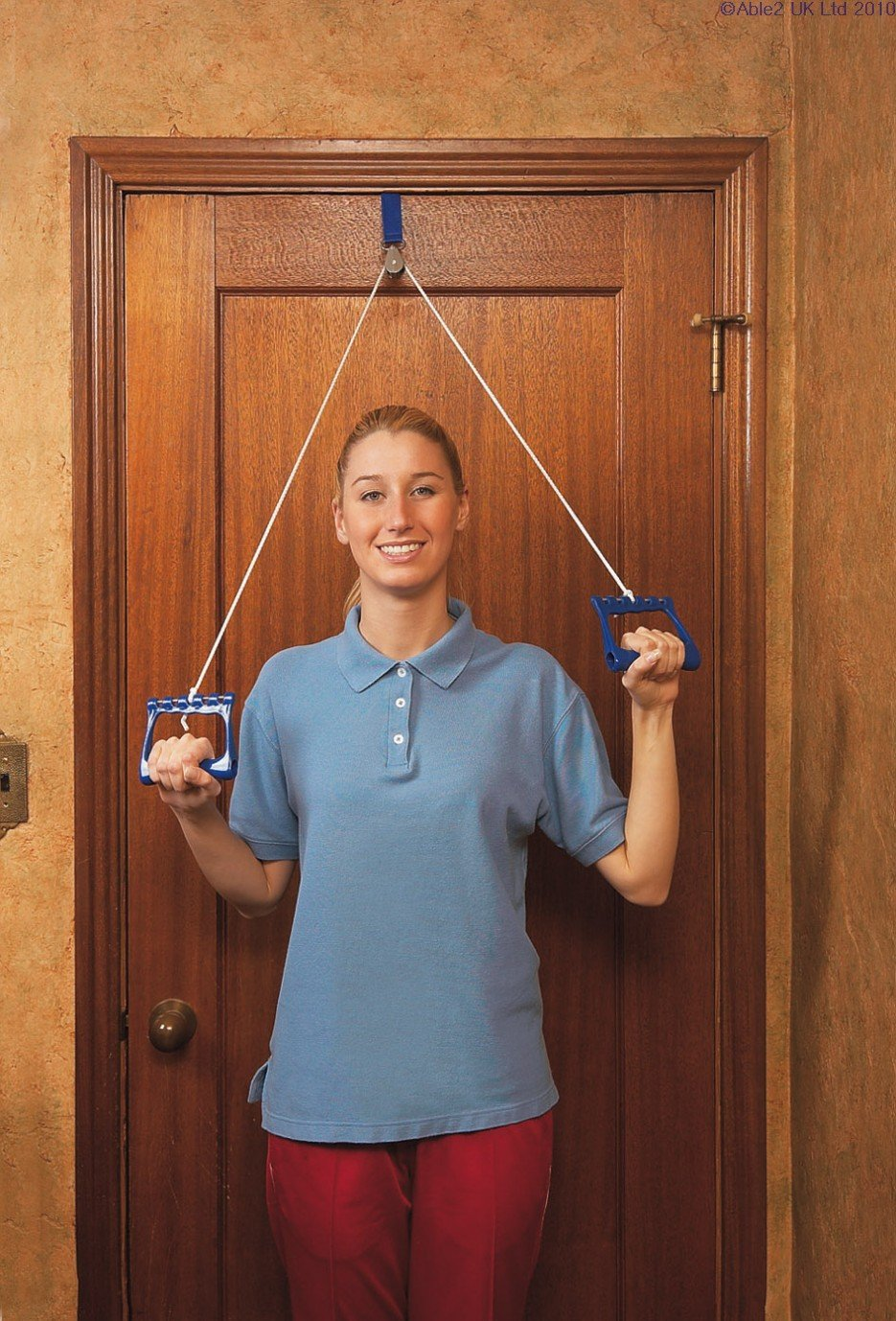 Amazon.com Over Door Exercise Pulley - webbing anchor by A\u0027BLE Health \u0026 Personal Care  sc 1 st  Amazon.com & Amazon.com: Over Door Exercise Pulley - webbing anchor by A\u0027BLE ...