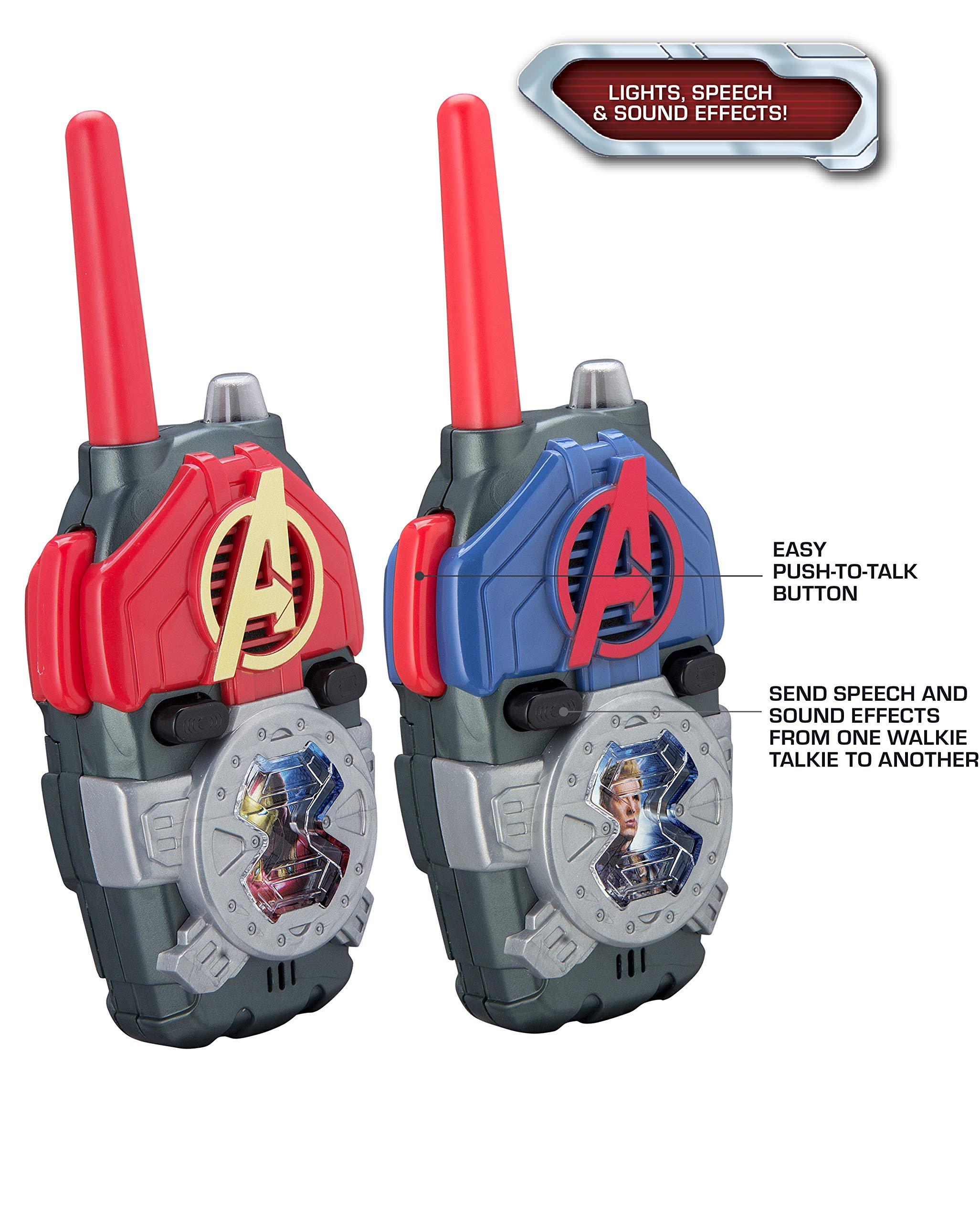 eKids Avengers Endgame FRS Walkie Talkies with Lights & Sounds Kid Friendly Easy to Use by eKids (Image #2)