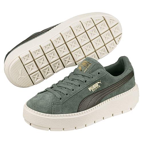 5e214aec14c0 Puma Suede Platform Trace Mädchen Sneaker Laurel Wreath-Forest Night 3