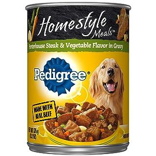 DISCONTINUED BY MANUFACTURER: Pedigree Home-style Meals Porterhouse Steak & Vegetable Flavor Canned Dog Food (12 Pack), 13.2 oz