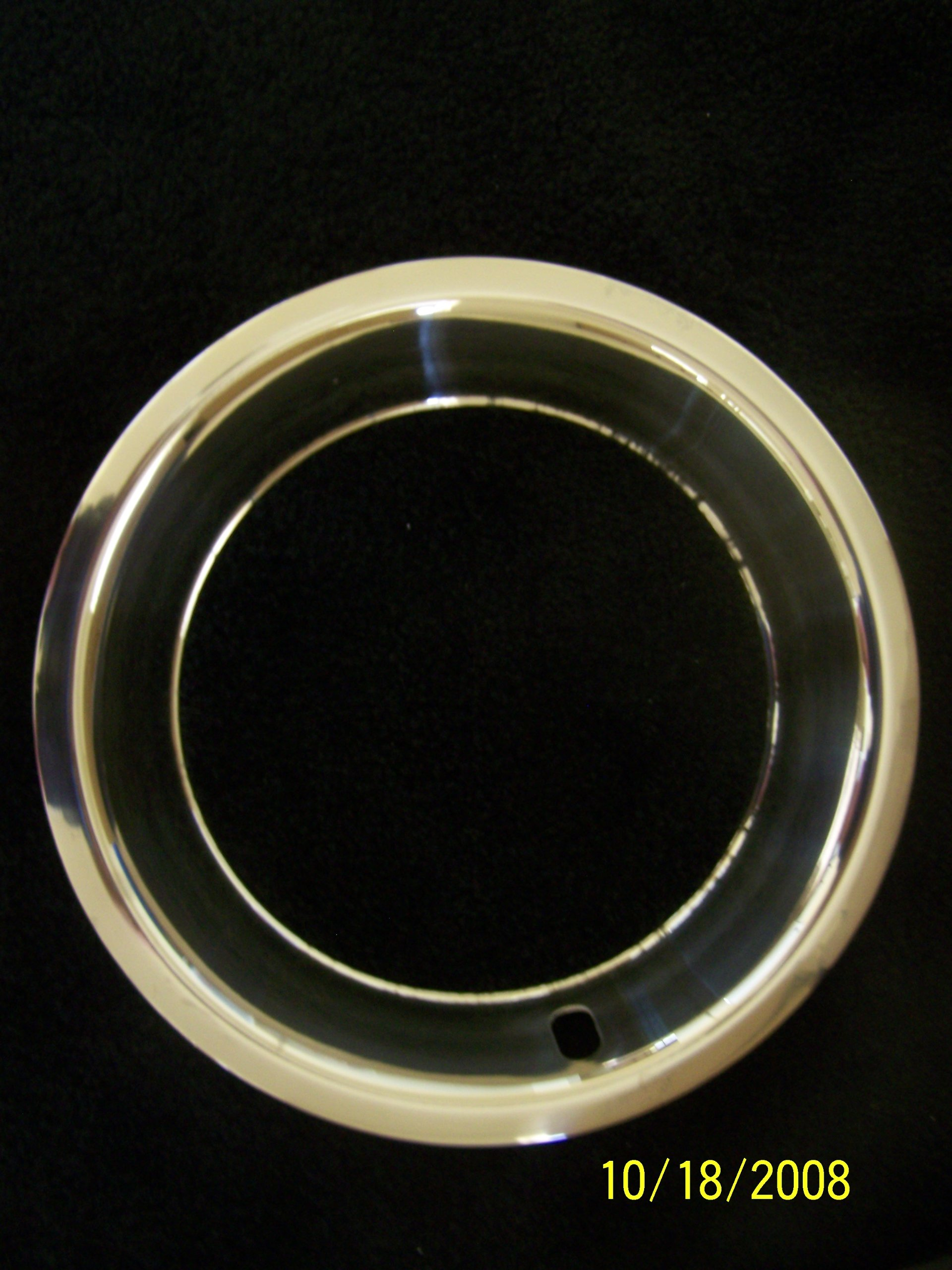 15x8 Deep Dish Chrome Plated Stainless Steel Beauty Trim Rings