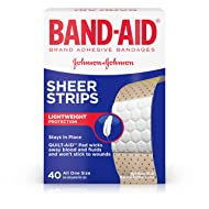 Band-Aid Brand Sheer Strips Adhesive Bandages for First Aid and Wound Care, All One Size, 40 ct