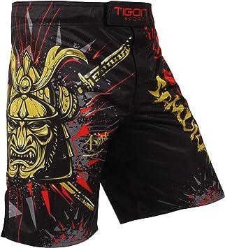 Tigon Mma Pantalones Cortos De Samurai Fight Ufc Que Luchan Pantalones De Jaula De Muay Thai De Patada Corta De Kick Boxeo Amazon Es Deportes Y Aire Libre