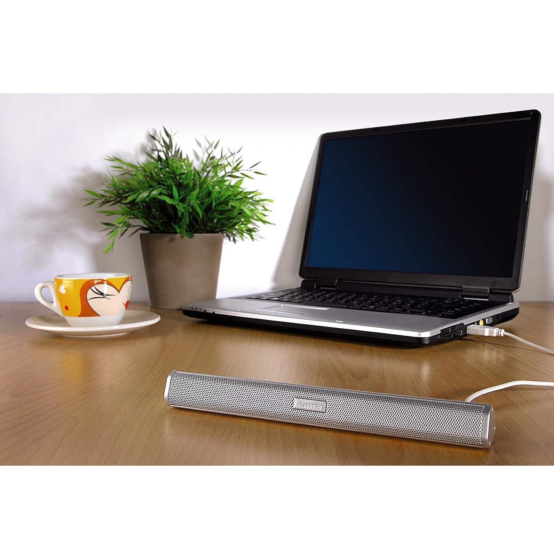 "Notebook Speakers 3.5mm USB Powered Laptop Hama /""E 80/"" PC"