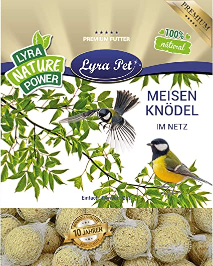 Lyra Pet/® 200 x 90 g Meisenkn/ödel ohne Netz HK Polen Wildvogelfutter Ganzjahreskn/ödel Wildv/ögel Fettfutter