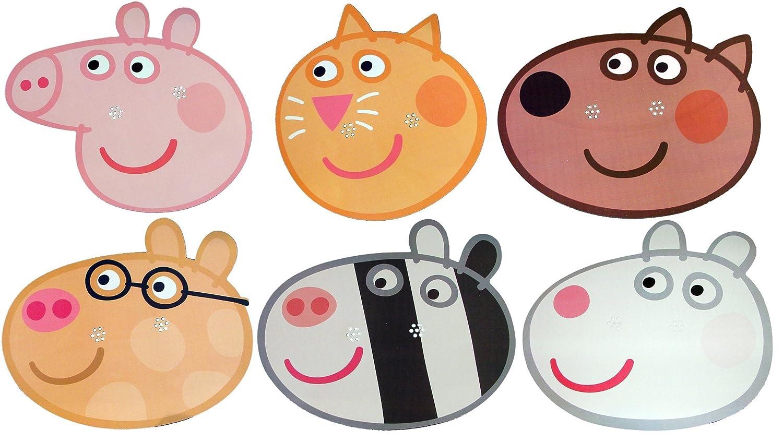 Amazon.com: Peppa Pig – Tarjeta de Multipack – Máscaras ...