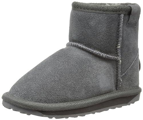 EMU Australia Emu Australia Wallaby Mini - Zapatos de punta cuadrada sin cordones, Gris, 36