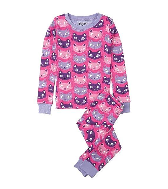Hatley PJACACA, Pijama para Niña 2 piezas. Algodón Orgánico. Color 182-Rosa
