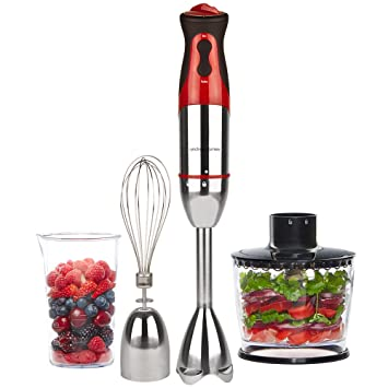 Andrew James - Potente 700 W Batidora en rojo - con 500 ml cocina Máquinas de accesorios, accesorio Batir y 500 ml de Medición y vasos: Amazon.es: Hogar