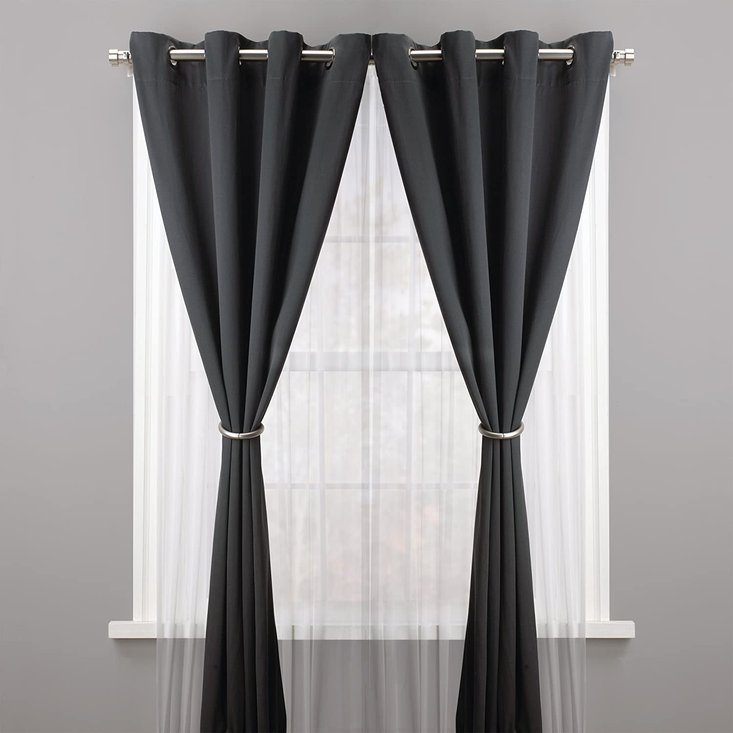 Umbra Halo Drapery Holdback, Metallic Pewter: Amazon.ca: Home U0026 Kitchen