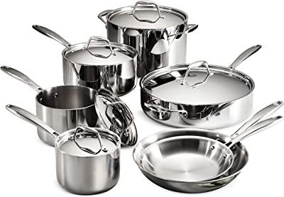 Tramontina 12-Piece stainless steel Tri-Ply Clad Cookware Set Review