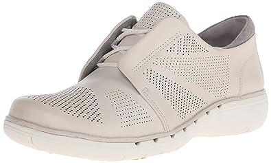 CLARKS Women's UN Voltra Walking Shoe, White Leather, ...