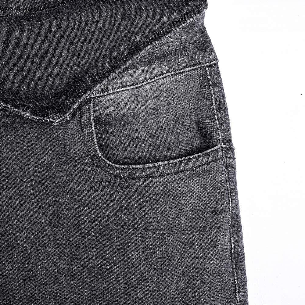 Pantalones Cortos de Cintura Alta Pantalones Jeans Largos de ...