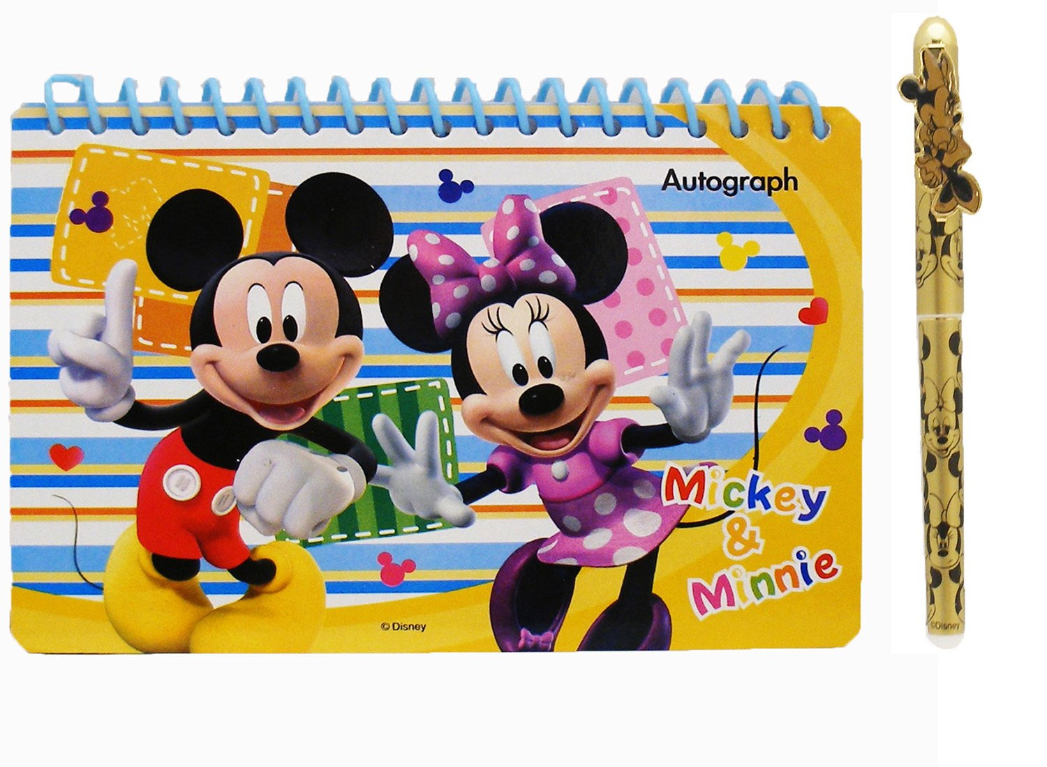 Disney Mickey Mouse and Friend Blue Autograph Book