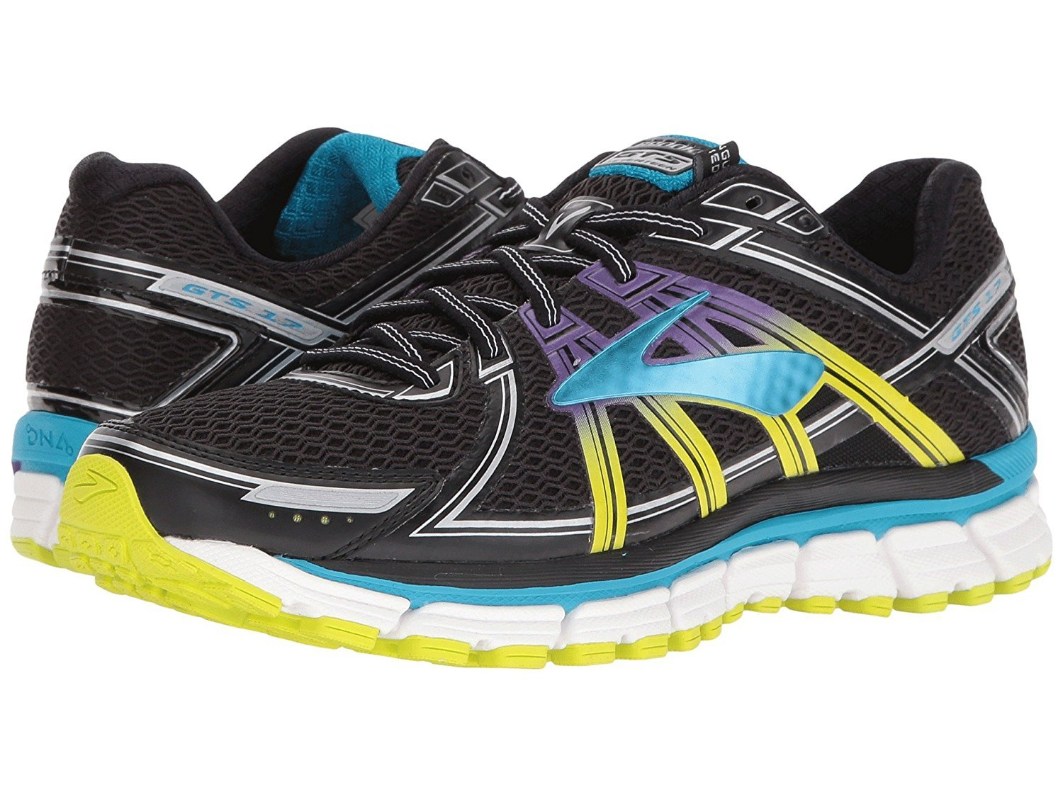 Brooks Women's Adrenaline GTS 17 B01H1SNGCW 5 B(M) US|Black/Hawaiian Ocean/Lime Punch