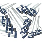 """20pc Brick Profile F Clamps Bar Clamp Quick Slide Wood Clamp 12""""- 300 x 50mm"""