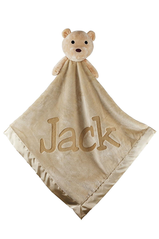 Large Ultra Plush Personalized Teddy Bear Baby Blanket Gifts, 40x40 Inch (Pink), Boy or Girl Custom Catch CC-BBL-TB-PI