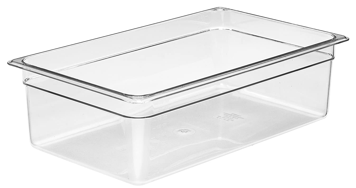 Cambro Camwear 16CW135 Food Pan, 1/1 by 6-Inch, Clear