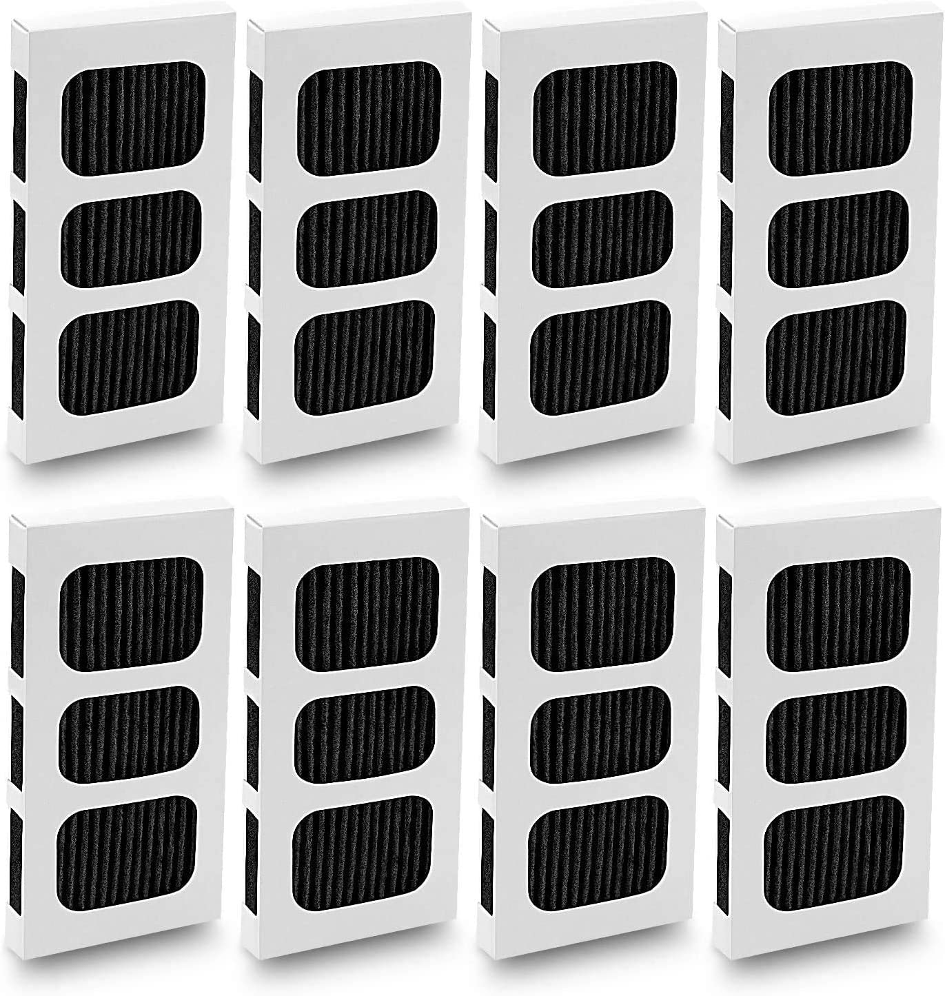 LINNIW 8 Pack Paultra2 Refrigerator Air Filter Replacement, Compatible with Pureair Ultra 2, Pureair Ultra ii, Electrolux 5303918847 242047805 EAP12364179