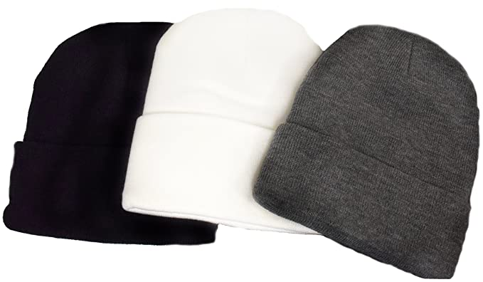 Amazon.com  Great Deals! 3 Pack Knit Beanies Black 9de5f064d3f5