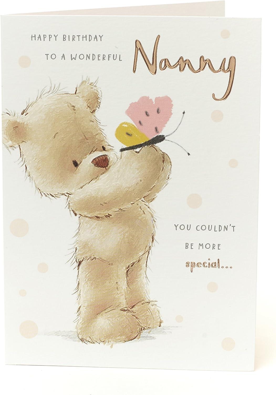 Nanny Birthday Card Granny Teddy Bear Perfect For Granma Birthday Gifts For Her Nanna Nan Gift