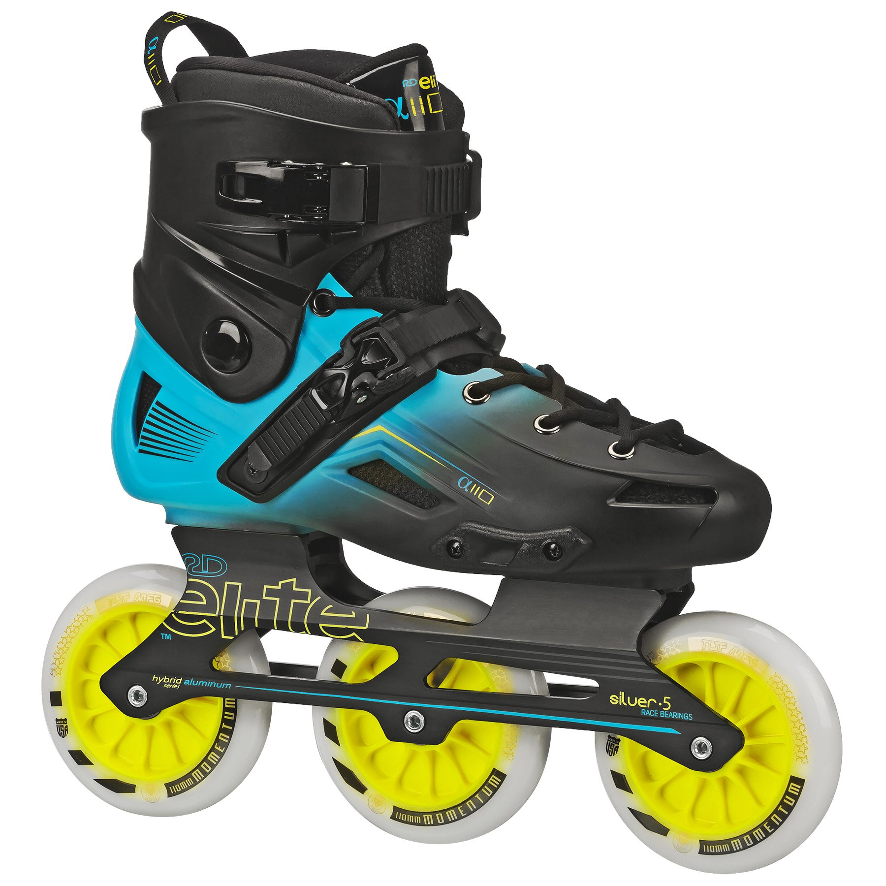 Roller Derby Elite Alpha 110mm 3-Wheel Inline Skate, 06