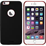 AirCase iPhone 6s / 6 Leather Feel 1mm Slim Back Case/Cover with Apple Cut Out (Black)