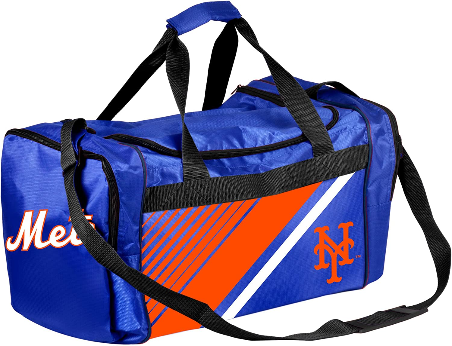 FOCO MLB New York Mets Border Stripe Duffle Bag