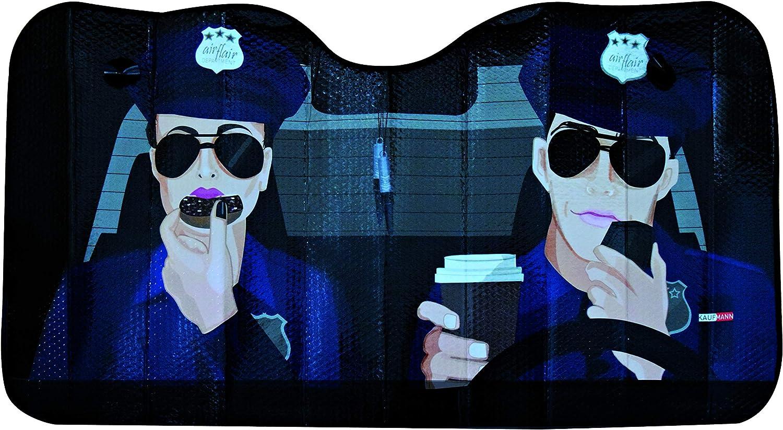 Ok Cars Az Saa 042 Auto Frontscheibe Sonnenschutz Für Die Windschutzscheibe Frontscheibenabdeckung Mit Motiv Polizei 130x70cm Auto