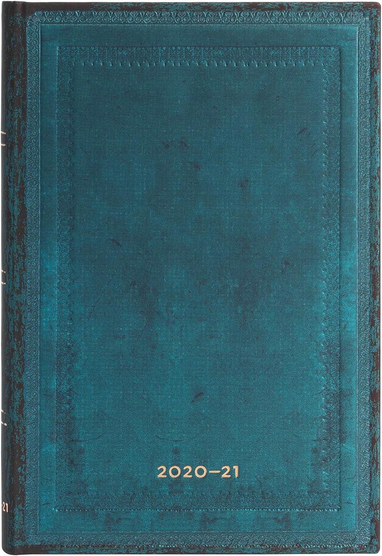 Paperblanks Agendas 18 Meses 2020-2021 Calypso Liso, Apaisado, Mini (95 × 140 mm) DS6547-0
