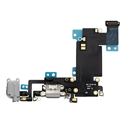 newest cb593 43011 COHK USB Charging Port Dock Flex Cable with Microphone and Headphone Audio  Jack Replacement for iPhone 6s Plus 5.5'' Grey