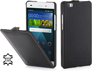 StilGut UltraSlim, Housse Huawei P8 Lite en Cuir Noir