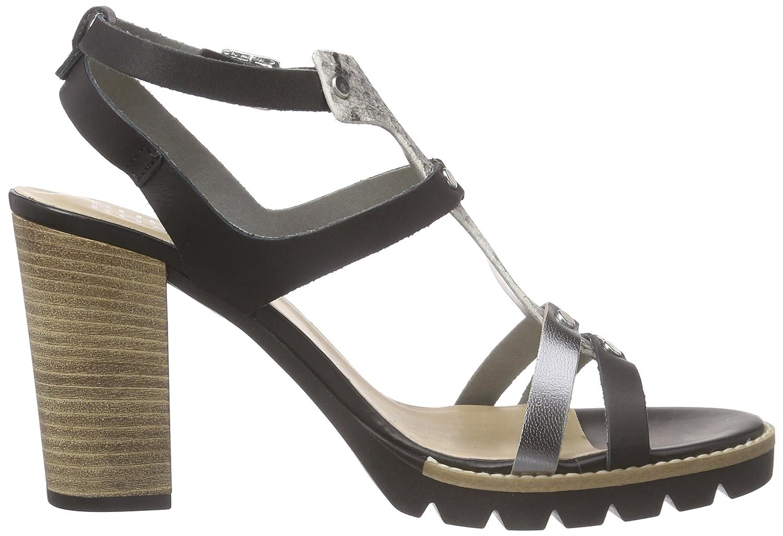 BULLBOXER 833006E2L Damen T-Spangen Sandalen mit Blockabsatz: Amazon.de:  Schuhe & Handtaschen