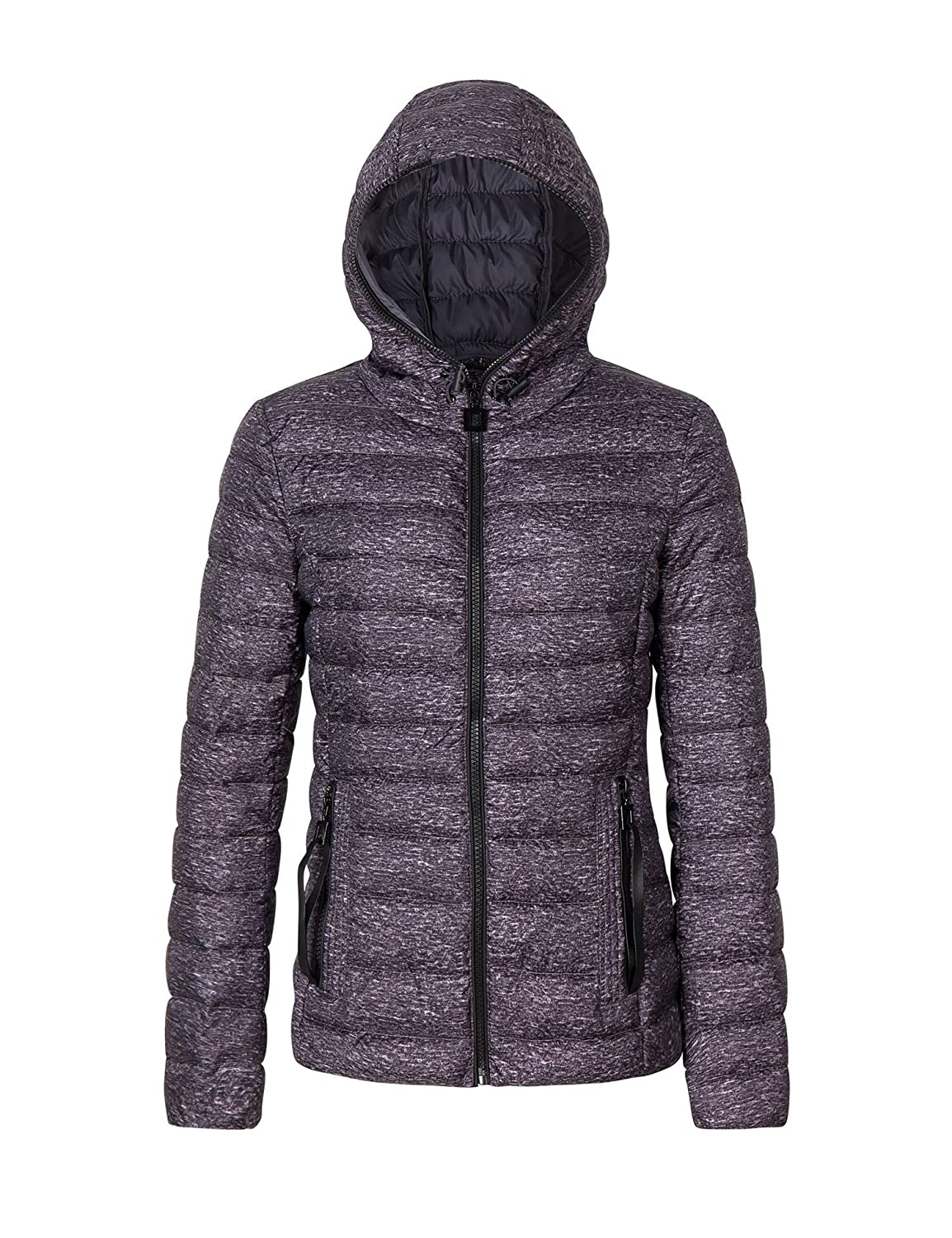5379b9941 Bellivera Womens Puffer Winter Jacket for Spring and Fall,Padding  Lightweight Quilted Coat with Hood and Zipper Pockets