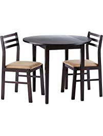 Three Piece Kitchen Table Set Table chair sets amazon coaster 3 piece dining set cappuccino workwithnaturefo
