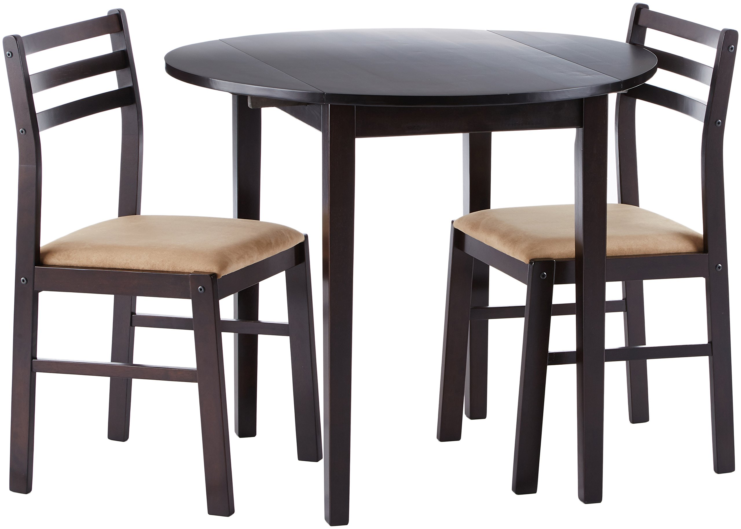 Coaster Home Furnishings 3-piece Dining Set with Drop Leaf Cappuccino and Tan by Coaster Home Furnishings