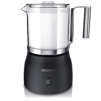 Espumador de leche eléctrico Arendo, incluye recipiente de cristal desmontable Milkstar, Milk Frother,