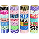 UOOOM Multi-pattern Washi Tape Ruban Adhésif Papier Décoratif Masking tape Scrapbooking (10 modéles)