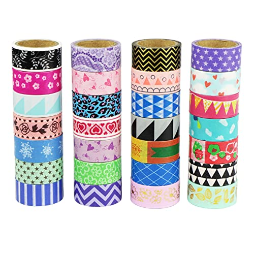 UOOOM Multi-pattern Decorative Washi Tape Masking Tape Adhesive Scrapbooking DIY Craft Gift (10 x Patterns)