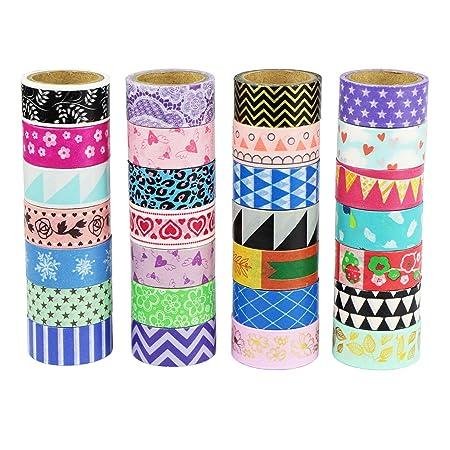 UOOOM Multi-pattern Decorative Washi Tape Masking Tape Adhesive ...