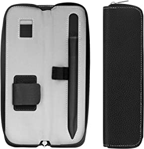 MoKo Holder Case for Apple Pencil (1st & 2nd Gen), Carrying Bag Sleeve Pouch Cover Fit iPad 8th Gen 2020/7th Gen 2019/iPad Air 4 2020/Air 3 2019/Pro 11/12.9 2020&2018, Built-in Pocket, Black